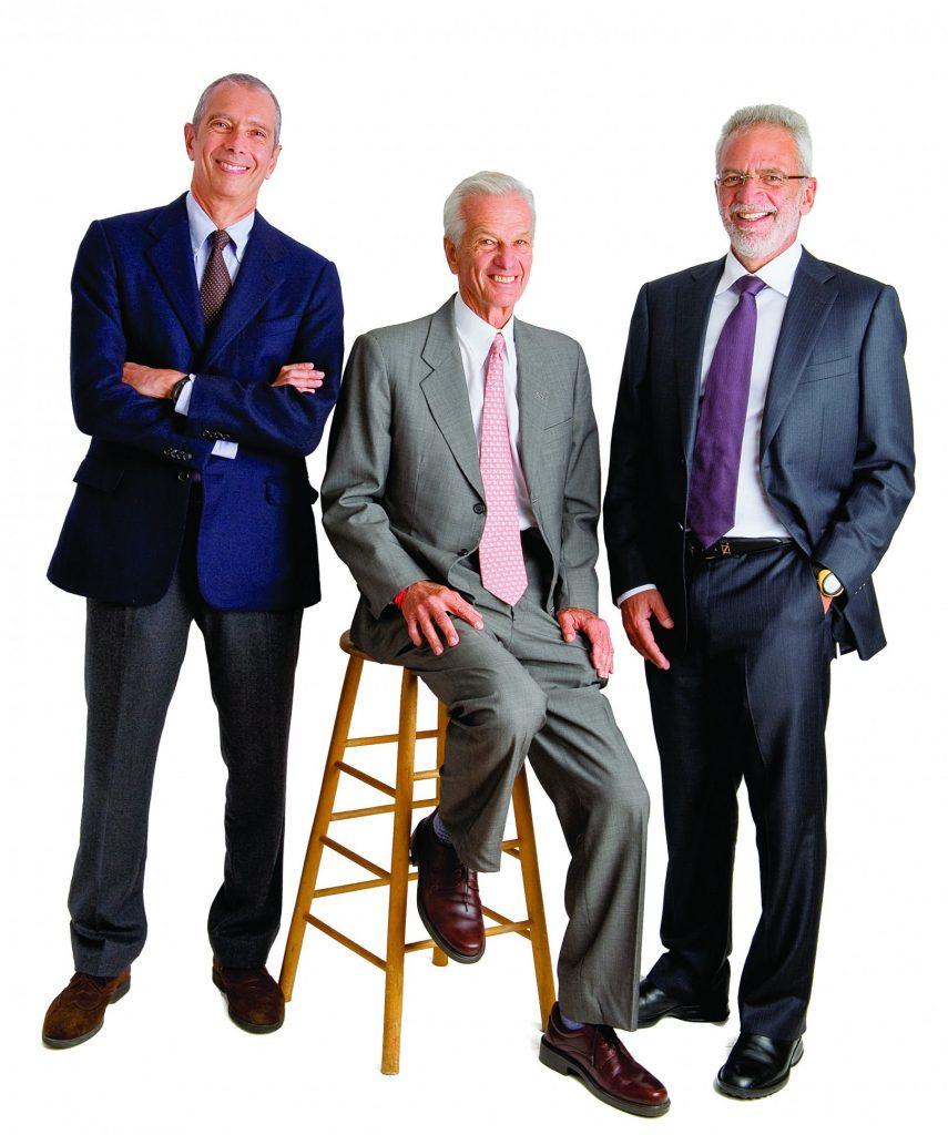 Brazilian billionaires Carlos Alberto Sicupira, Jorge Paulo Lemann and Marcel Herrmann Telles (PHOTO: Webb Chappell Photography)