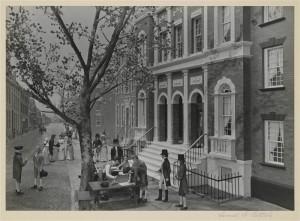 Buttonwood diorama. NYSE. Museo della Città di New York  dalla collezione Gottscho-Schleisner (Biblioteca del Congresso)  Numero di riproduzione:  LC-G612-T-47539-A