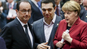 Hollande Tsipras e Merkel all'incontro di Riga