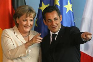 Merkel e Sarkozy. Immagine di repertorio.