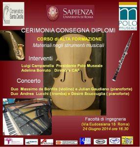 Corso di Alta Formazione Materiali negli strumenti musicali Sapienza Conservatorio 002