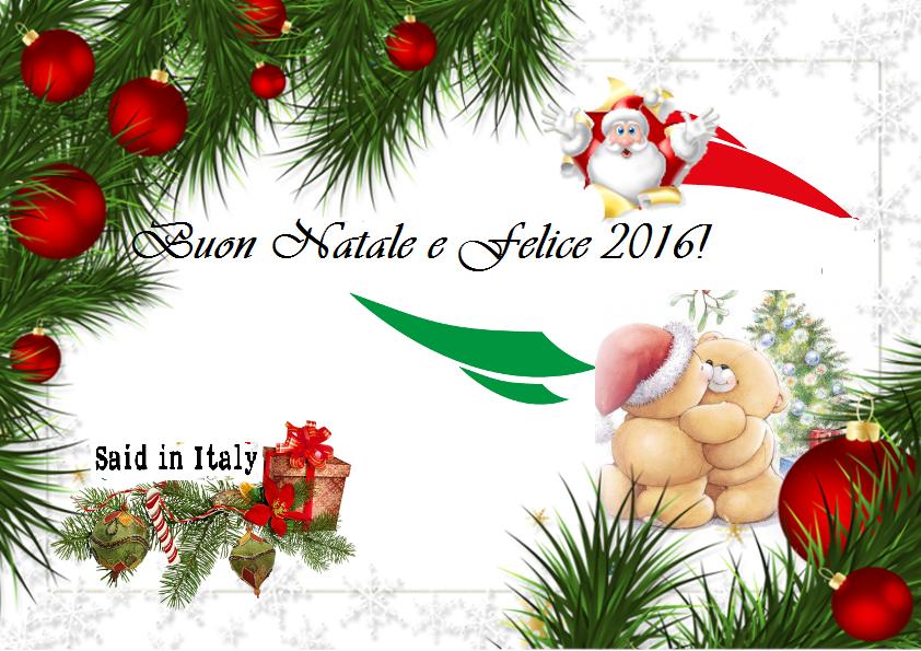 Buone feste da tutta Said in Italy. Felice 2016!