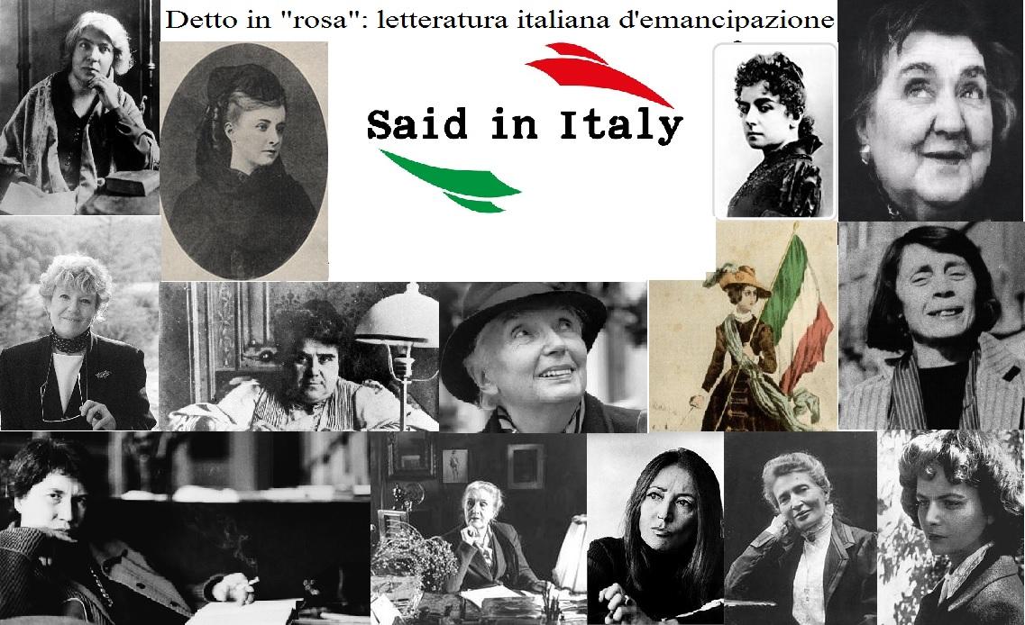 """Detto in """"rosa"""", letteratura italiana d'emancipazione - Said in Italy"""