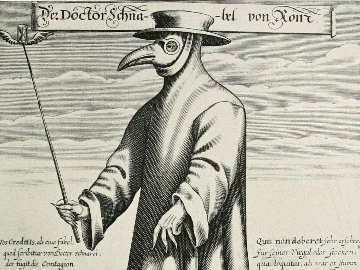 Der Doctor Schnabel von Rom o Il medico della peste (1656), di Paul Fürst (1608-1666)