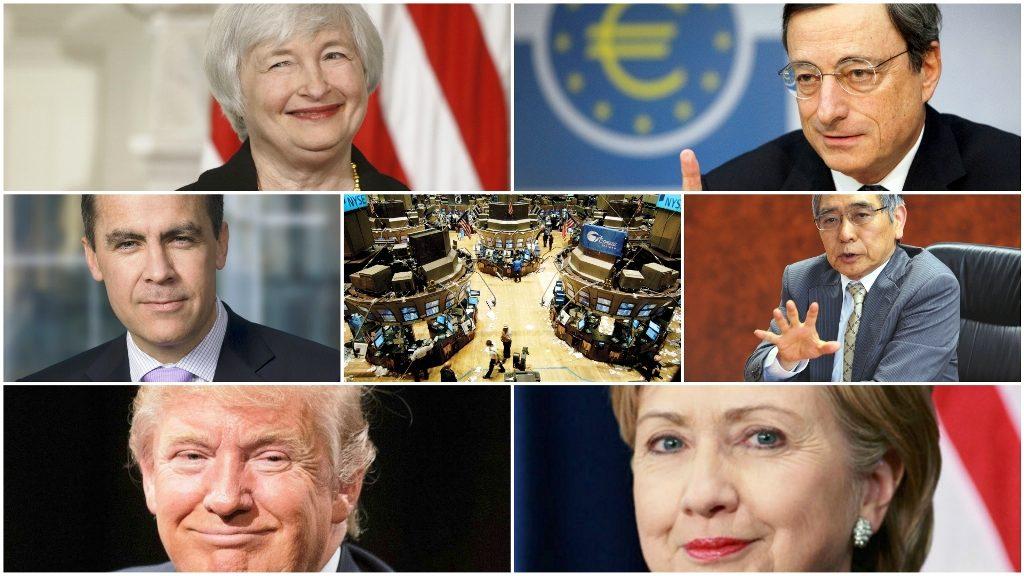 Banche centrali, mercati finanziari e duello Trump- Clinton. Lo scacchiere dello sbilanciamento.