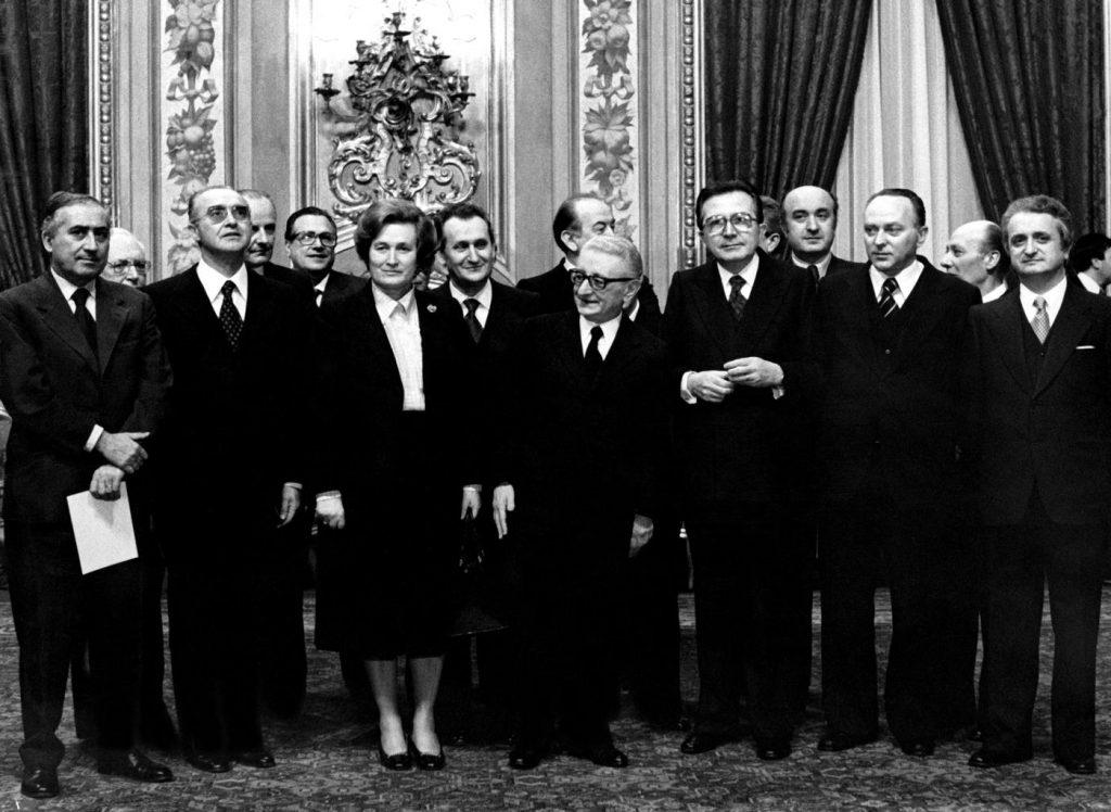 il-governo-con-tina-anselmi-e-il-presidente-della-repubblica-giovanni-leone