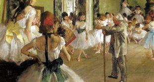 Riproduzione del quadro 'La classe di danza' di Edgar Degas